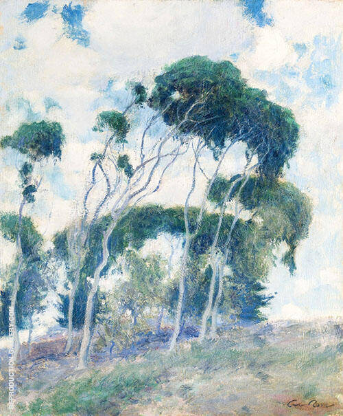 Study for Windswept Trees Laguna 1917 Painting By Guy Rose
