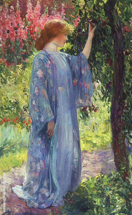 The Blue Kimono 1909 By Guy Rose