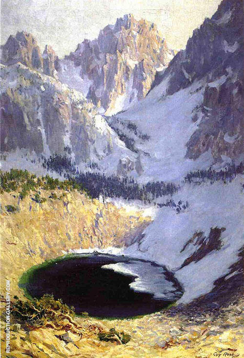 The Blue Pool Near MT Whitney Painting By Guy Rose - Reproduction Gallery