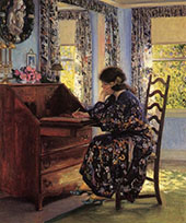 The Difficult Reply 1910 By Guy Rose