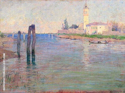The Gondolier Venice 1894 By Guy Rose