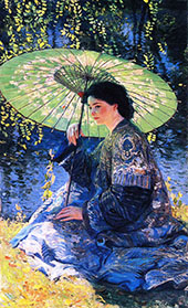 The Green Parasol 1911 By Guy Rose