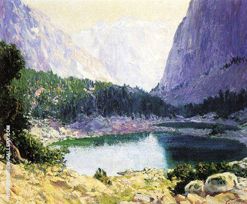 Twin Lakes Eastern Sierras Near Bridgeport 1919 Painting By Guy Rose
