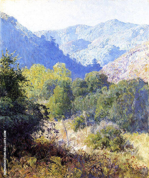 View in The San Gabriel Mountains By Guy Rose