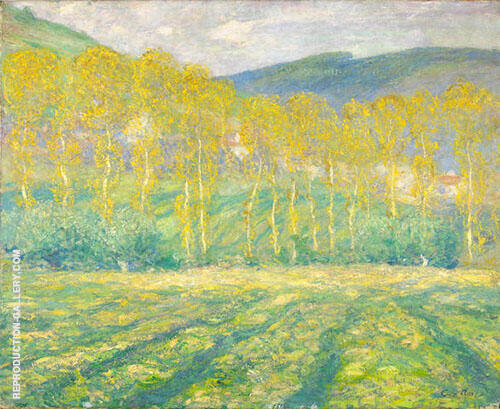 Yellow Trees Giverny Painting By Guy Rose - Reproduction Gallery