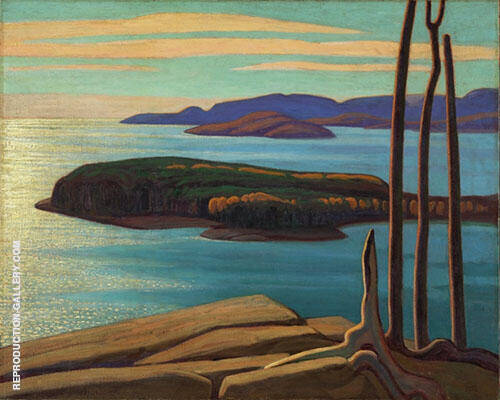 Afternoon Sun North Shore Lake Superior 1924 By Lawren Harris