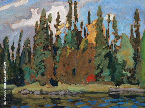Algoma Sketch CVII 1920 By Lawren Harris