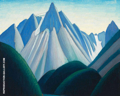 Cathedral Mountain from Yoho Valley Mountain Sketch 1929 By Lawren Harris
