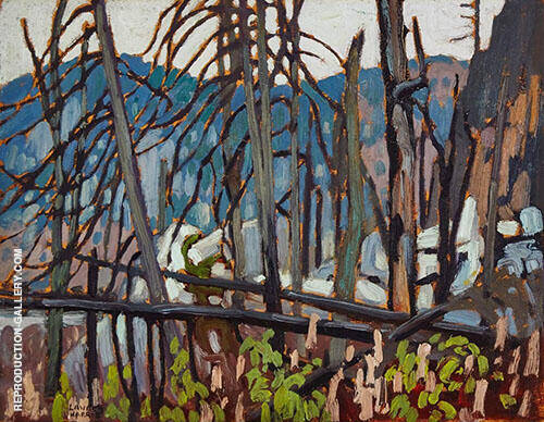 Algoma Sketch 1919 Painting By Lawren Harris - Reproduction Gallery