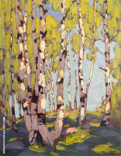 Birches 1916 Painting By Lawren Harris - Reproduction Gallery