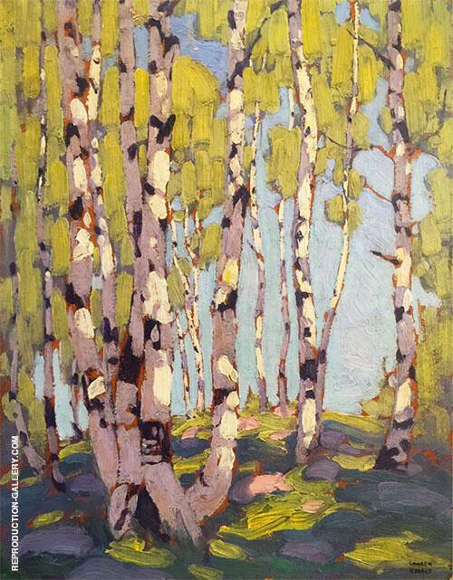 Birches 1916 By Lawren Harris