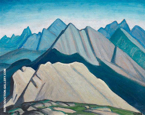 Colin Range Mountain Sketch lV 1924 Painting By Lawren Harris