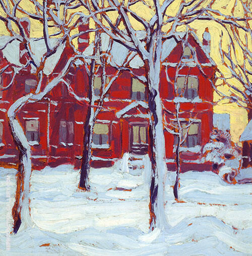 Houses Group 1919 By Lawren Harris