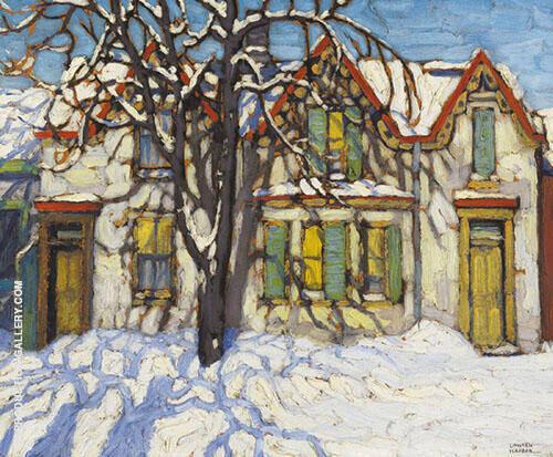 Houses on Gerrard Street By Lawren Harris