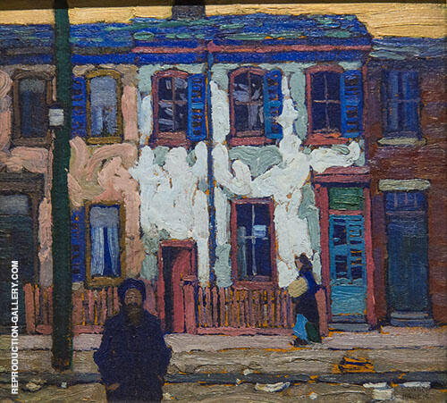 In The Ward Painting By Lawren Harris - Reproduction Gallery