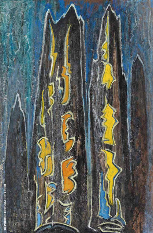 LSH 84 1958 By Lawren Harris