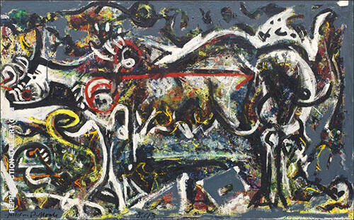 The She-Wolf 1943 By Jackson Pollock (Inspired By)