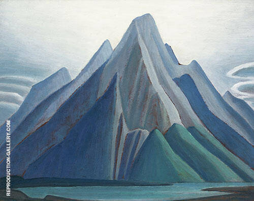 Mountain on The Athabasca River Mountain Sketch XCI By Lawren Harris