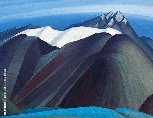 Mountains East of Maligne Lake 1925 By Lawren Harris