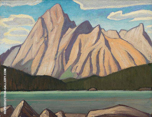 Mount Sampson Maligne Lake 1924 By Lawren Harris