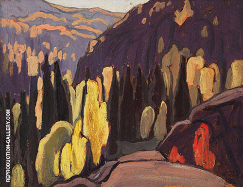 Near Coldwell Lake Superior North Shore 1923 By Lawren Harris