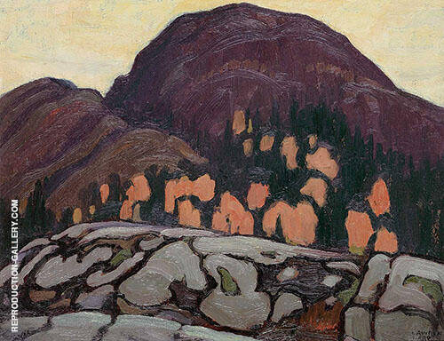 Old Bill Coldwell Lake Superior 1922 Painting By Lawren Harris