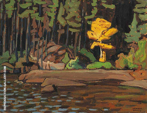 on an Algoma Lake 1918 By Lawren Harris