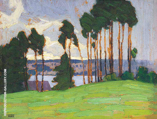 Rainstorm Northern Lake 1917 By Lawren Harris