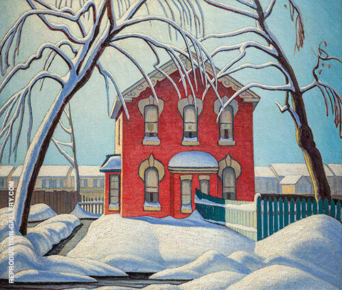 Red House 1925 Painting By Lawren Harris - Reproduction Gallery