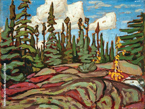 Rocky Landscape Painting By Lawren Harris - Reproduction Gallery