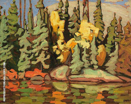 Sand Lake Algoma 1921 Painting By Lawren Harris - Reproduction Gallery