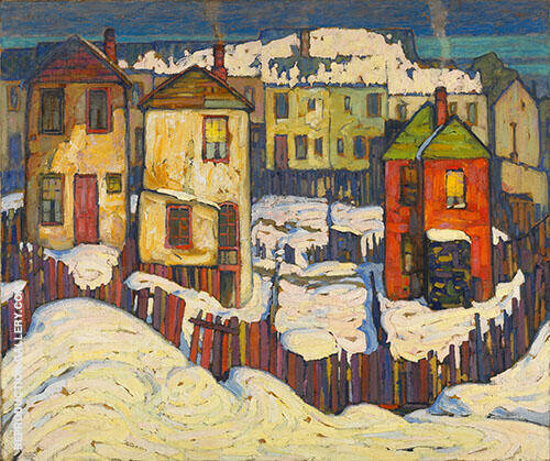 Shacks 1919 Painting By Lawren Harris - Reproduction Gallery