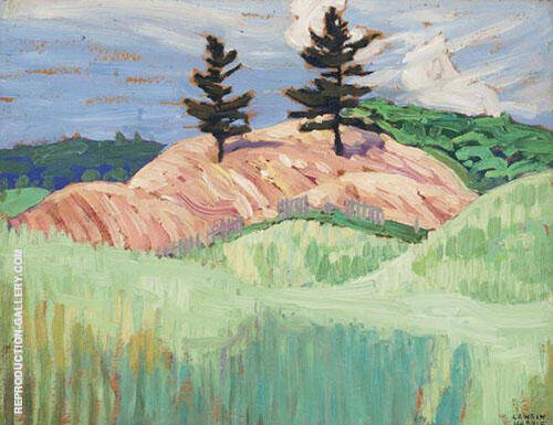 Sketch Above Aurora Ont By Lawren Harris