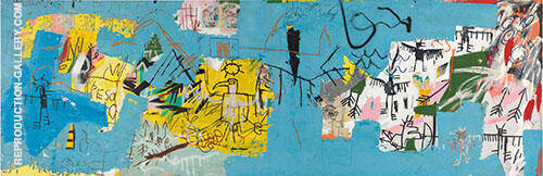 Untitled 1982 L.A. Painting By Jean-Michel-Basquiat
