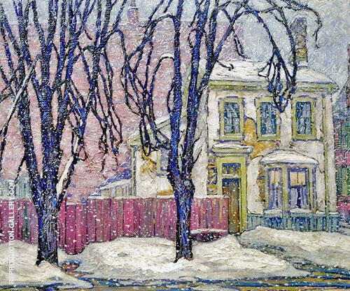 Snowfall 1920 Painting By Lawren Harris - Reproduction Gallery