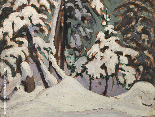 Snow in The Woods Algonquin Park I 1915 Painting By Lawren Harris