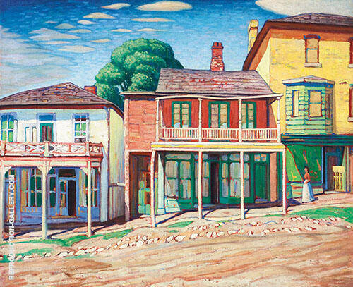 Street in Barrie Ont 1919 Painting By Lawren Harris - Reproduction Gallery