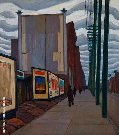 Street Scene Painting By Lawren Harris - Reproduction Gallery