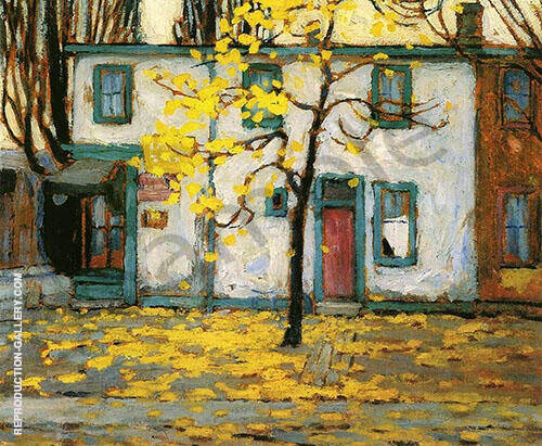 Toronto Old Houses 1912 Painting By Lawren Harris - Reproduction Gallery