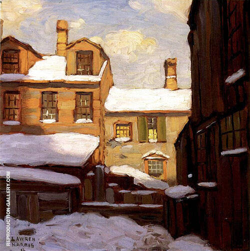 Winter in the Ward Painting By Lawren Harris - Reproduction Gallery