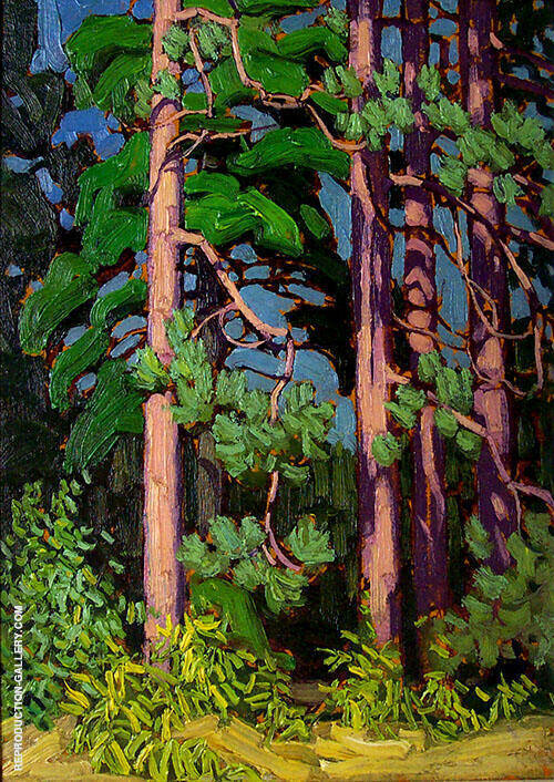 Trees 1916 Painting By Lawren Harris - Reproduction Gallery