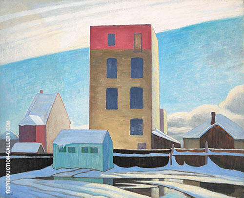 Warehouse no II 1923 Painting By Lawren Harris - Reproduction Gallery