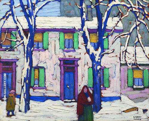 Winter in The Northern Woods Painting By Lawren Harris