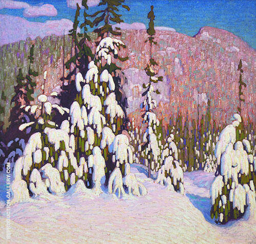 Winter Landscape Painting By Lawren Harris - Reproduction Gallery