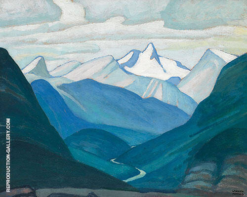 Yoho Valley and Isolation Peak Mountain Sketch XLV 1928 Painting By ...