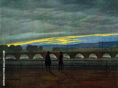 August Bridge in Dresden Painting By Caspar David Friedrich