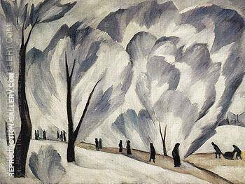 Hoar Frost c1910 Painting By Natalia Goncharova - Reproduction Gallery