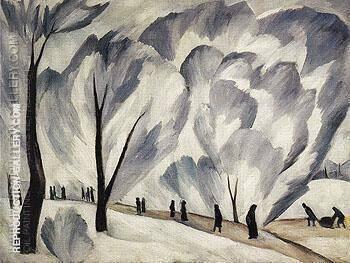 Hoar Frost c1910 By Natalia Goncharova