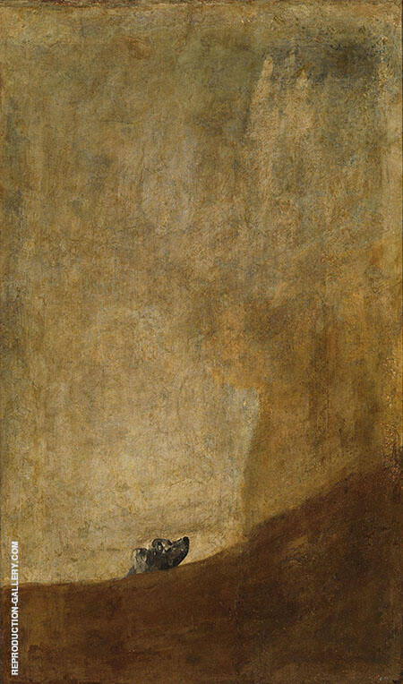 The Dog c1819-1823 Painting By Francisco Goya - Reproduction Gallery