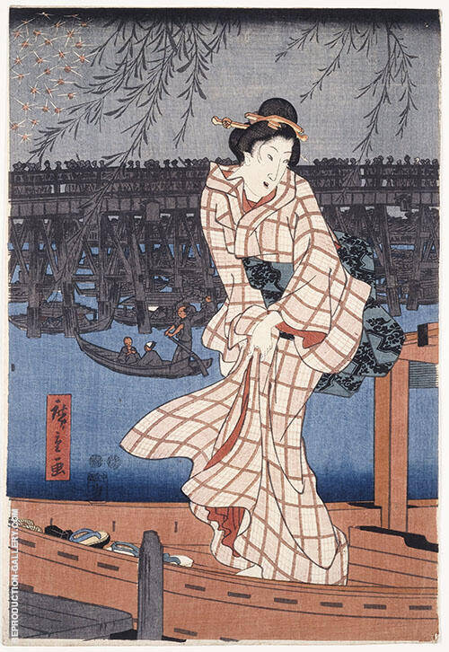 Evening on The Sumida Rivers By Hiroshige